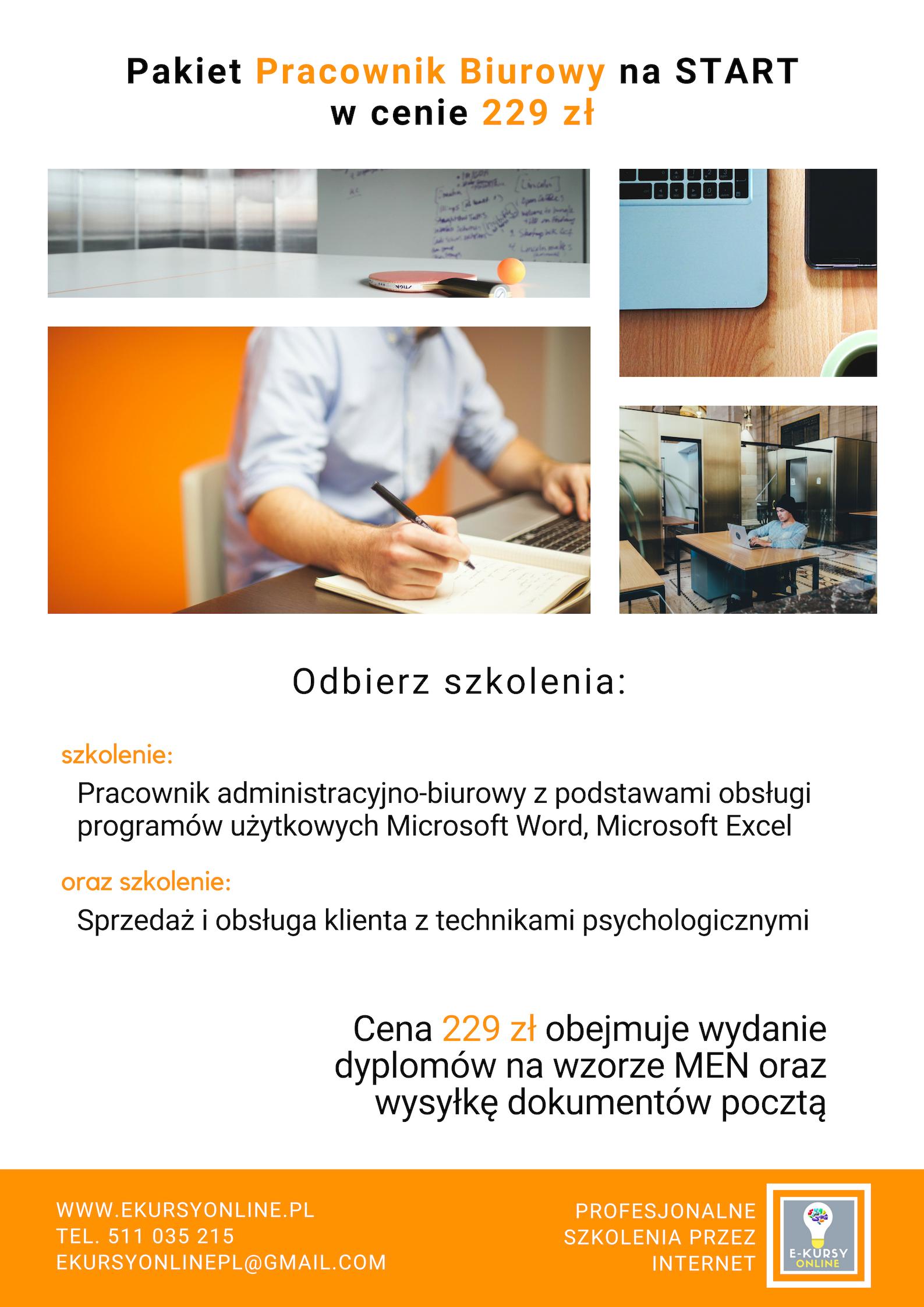 Promocja Pracownik biurowy na start