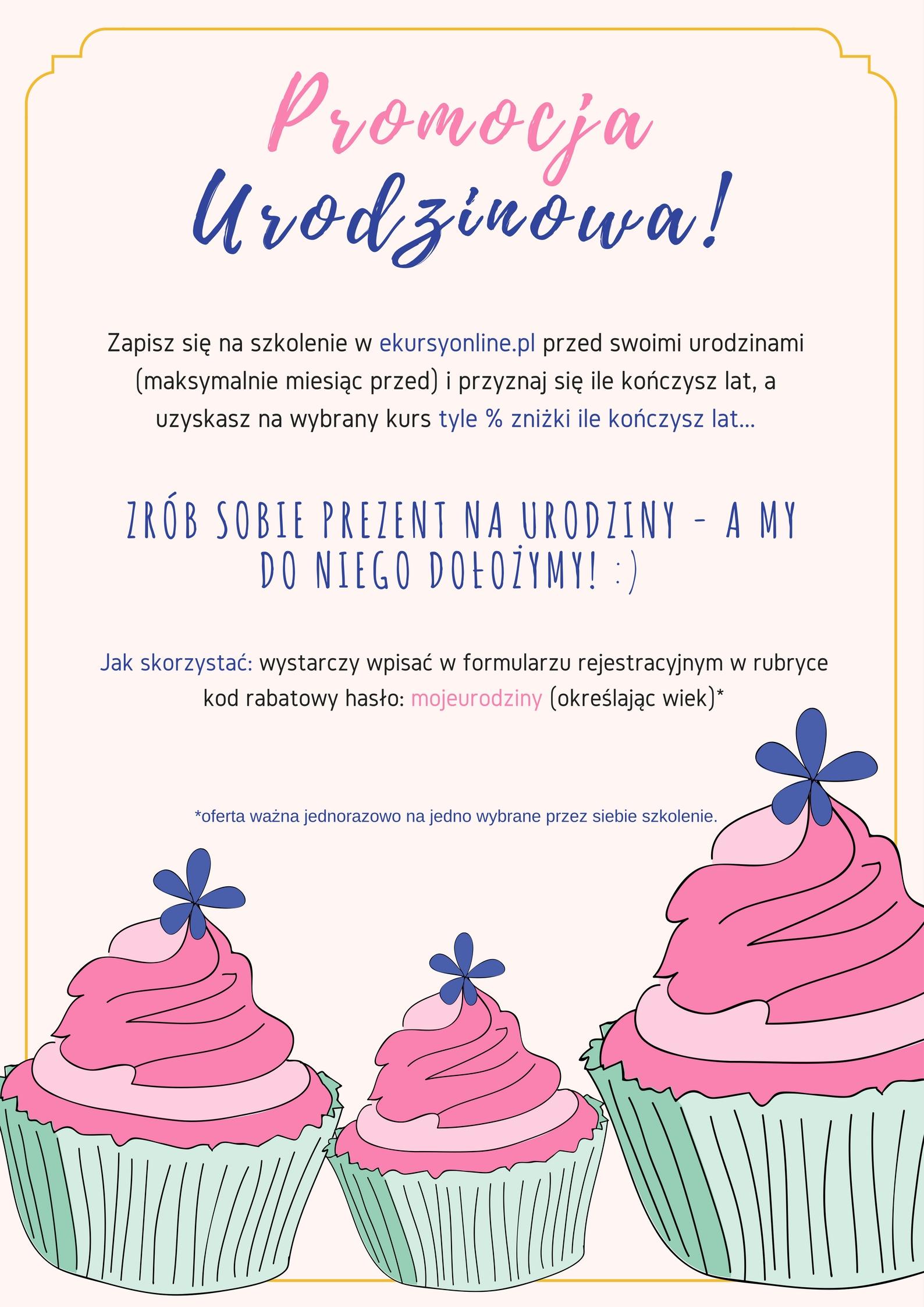 Promocja urodzinowa!