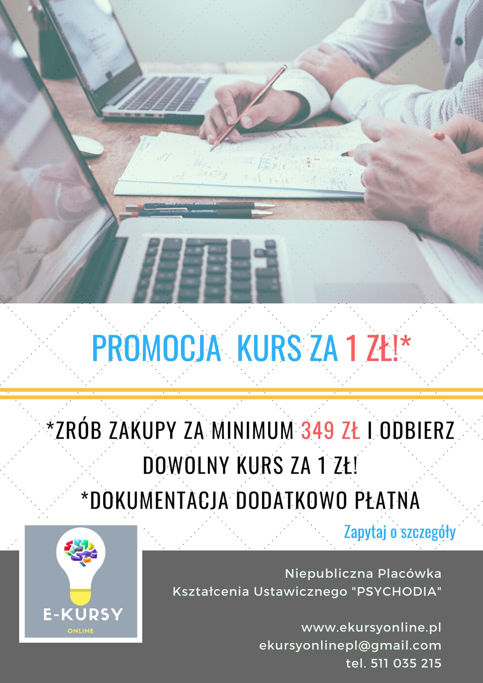 Promocja Kurs za 1 zł